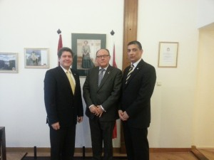 Ambassador Teran, Minister Voges and Geerlings
