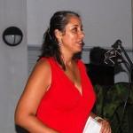 Michelle da Costa Gomez tijdens de première