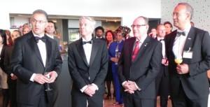 officiële opening Dutch Caribbean Pearls, v.l.n.r. burgemeester Aboutaleb met ministers Plasterk, Voges en Pieters, foto: Jamila Baaziz