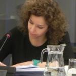 Wassila Hachchi tijdens een commissievergadering, foto: Jamila Baaziz