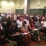 Het publiek bij de presentatie van het Transparancy International rapport Foto: Leoni Leidel-Schenk