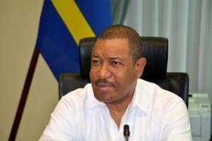 Minister van Justitie Nelson Navarro - foto: Dick Drayer