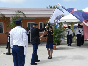 officiële wisseling van de wacht korpschef Bonaire, foto: Belkis Osepa