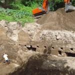 De opgravingen in het historische havenkwartier van St. Eustatius.