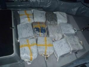 De door de Kustwacht onderschepte drugs. Foto: Kustwacht Caribisch Gebied