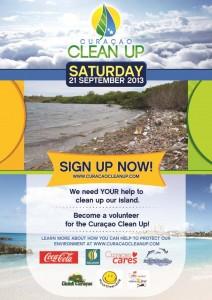 """De Poster van """"Curaçao Clean Up"""""""