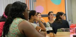 Bursalen tijdens de Taalweek - foto: Jamila Baaziz