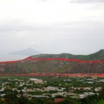 De geplande locatie voor een nieuwe olie overslag plaats op St. Eustatius - foto: SEMF