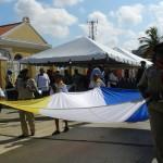 De vlag van Bonaire - foto: Belkis Osepa