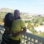 Het Arubaanse koppel Franklin en Jessy bezoeken voor de tweede keer het festival - foto: Leoni Leidel-Schenk