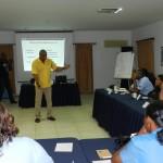 Workshop interculturele communicatie van Mike Euphrosina. Hierna werden de campagnes gelanceerd - foto: Belkis Osepa