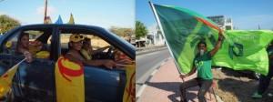 De traditionele verkiezingsoptochten op Aruba - foto: Ariën Rasmijn