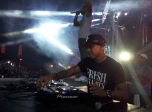 DJ Chuckie in actie tijdens zijn Dirty Dutch avond op het Electric Festival. Foto: Ariën Rasmijn