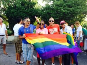 Amper tientalle mannen en vrouwen waren aanwezig op de manifestatie -foto: Natasja Gibbs