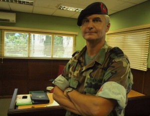 Commandant Jan ten Hove. Foto: Ariën Rasmijn