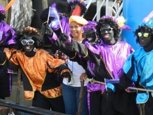 De Bonairiaanse Zwarte Pieten zijn ook dit jaar van de partij - foto: Belis Osepa