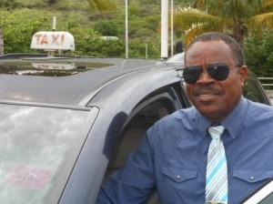 Taxichauffeur Rufino Arrindell. Foto Today / Hilbert Haar