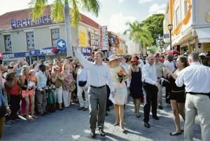 Koning Willem-Alexander en koningin Máxima op Sint Maarten - foto Today / Milton Pieters