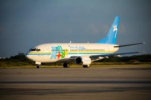 De 737-300 van Tiara Air. Foto: persafdeling ministerie van Toerisme en Transport.