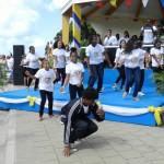 Dansende jongeren van BYOF tijdens lancering van het JOGG-project - foto: Belkis Osepa
