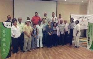 Deelnemers aan de anti-doping workshop van Rado. Foto: Ariën Rasmijn