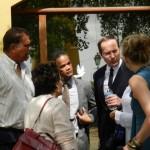 Verdediging in gesprek met de verdachten - foto: Belkis Osepa