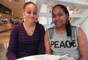 Elsa Peterson en Terika Daniel - foto: Jamila Baaziz
