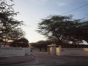 Het St. Michael paviljoen in Oranjestad, een van de faciliteiten van Saba waar bejaarden en verpleeghuispatiënten worden verzorgd. Foto: Ariën Rasmijn