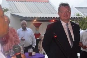 Wilbert Stokte bij zijn afscheidsreceptie op Bonaire - foto: Extra Bonaire