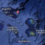 De lichte aardbeving vond nabij Anguilla plaats -foto: earthquake-report.com