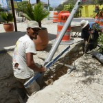 Aanleg riolering Bonaire - foto: Belkis Osepa