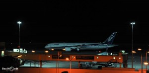 de 787 net na de landing op Hato - Foto: Bea Moedt