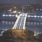 Constructie van de brug door de Simpson Bay Lagoon stimuleerde de economie - foto Today / Milton Pieters
