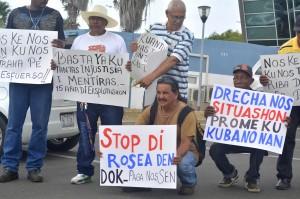 Dokwerkers protesteren bij ministerie van minister Palm