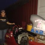 Divinia Arends is overgekomen uit Aruba om mee te racen - foto: Elisa Koek