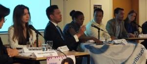 Verkiezingskandidaten tijdens Europees-Caribisch verkiezingsdebat - foto: Jamila Baaziz