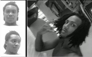 De politie heeft de foto's van twee ontsnapte gevangenen, Eni Carmelia (r) en Liomar Winklaar verspreid