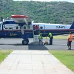 Winair is de enige maatschappij die vliegt vanaf Sint Eustatius - foto: Anneke Polak