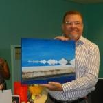 Directeur Angel Bermudez bij zijn afscheidsreceptie Foto Belkis Osepa