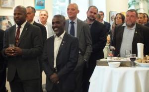 Statiaanse en Sabaanse delegatie bij receptie Caribisch Nederland-week - foto: Jamila Baaziz
