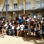 Enthousiasme bij de kleine groep geslaagde vwo-leerlingen van Liseo Boneriano
