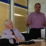 President-commissaris van BIA Jan Kloos en Les Laplace directeur BIA - foto: Belkis Osepa