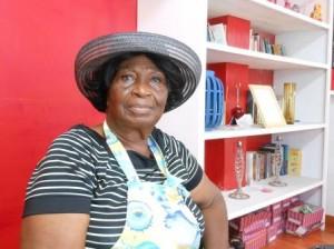 Adrianna kan niet zonder haar hoedjes. Foto today / Hilbert Haar