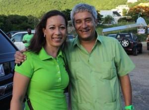 Maria Buncamper-Molanus en UP-leider Theo Heyliger hebben de moed nog niet verloren. Foto Today / Leo Brown