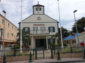 The courthouse in Philipsburg. Photo Today / Milton Pieters