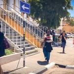 De advocaten verlaten het Gerecht - foto: John Samson