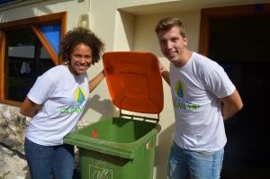 Deva-dee Siliee en Maarten Schakel van Curaçao Cleanup