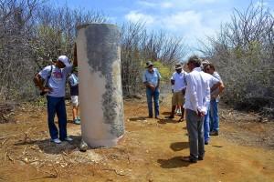 De belpaal op plantage Porto Marie - Foto: Dick Drayer