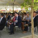 Rijksvertegenwoordiger Isabella naast Curaçaose gasten - foto: Belkis Osepa