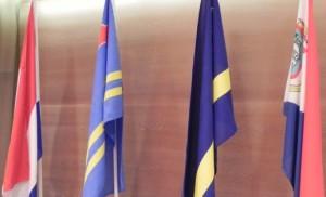 De vier Koninkrijksvlaggen - foto: Jamila Baaziz